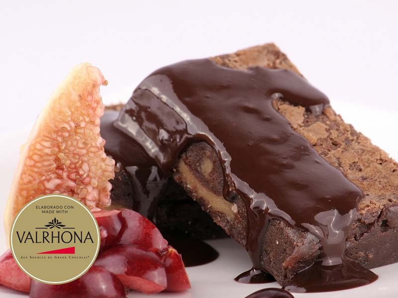 Brownie de chocolate Valrhona sin gluten
